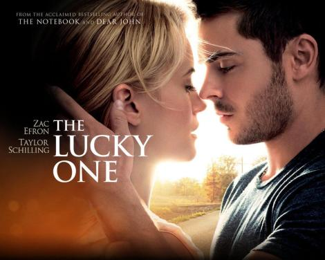 watched the lucky one with some friends late one