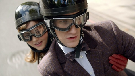 Clara (Jenna-Louise Coleman) and the Doctor (Matt Smith)